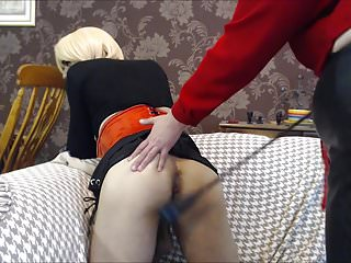 BBW mistress transforms and fucks CD slave