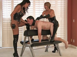 2 hot blond mistresses strapon domina Briana