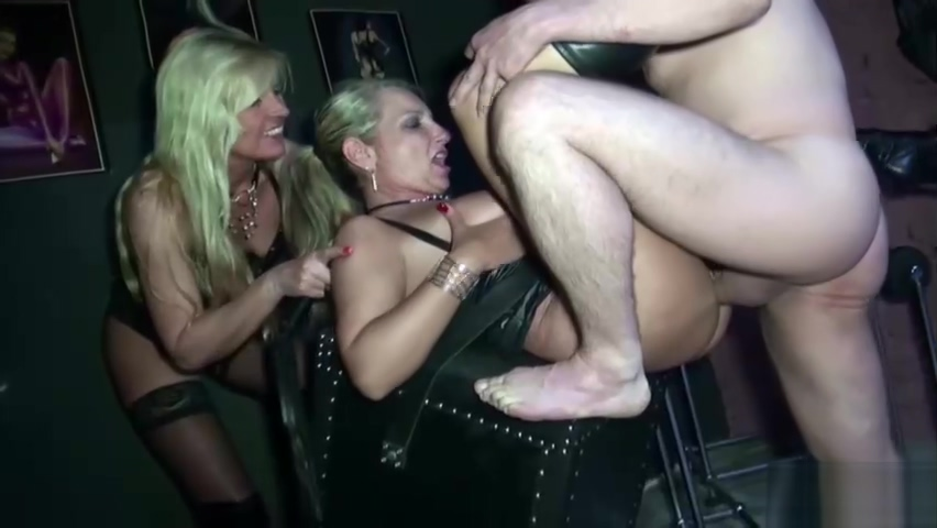Two German MILF Femdom Slave and let to eat own Sperm