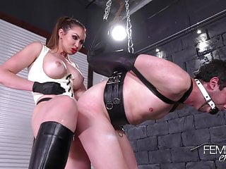 Mistress and her bound slave