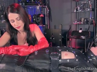 Leather Domme Ella Kross Has Fun With Boy Toy Slave