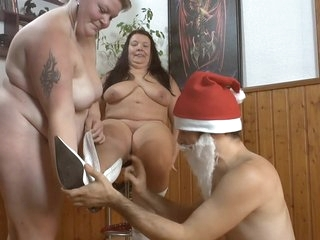 Christmas Surprise 21 - Hot Strip From Buxom Lesbians 2