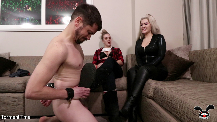 Violet Doll & Breton MacQueen & Slave Fluffy in Avn Creeper Gets The Violet Doll And Breton Macqueen Treatment - KINK