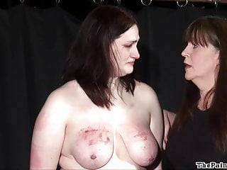 Amateur bdsm and extreme lesbian domination of chubby slave