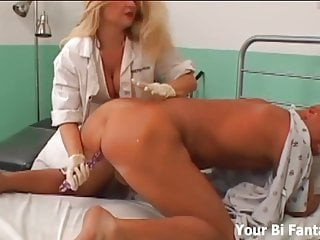 Gangbanged by dominant nurses with strapons