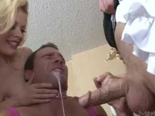 Little Miss Pink Gets Cucked, Fucked and Eats Cum