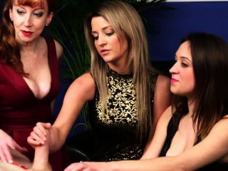 Cockhungry cfnm babes sucking guys cock