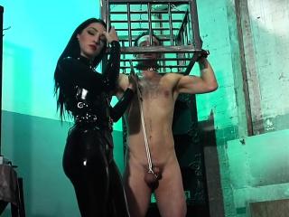 Kinky mistress punished a naughty guy