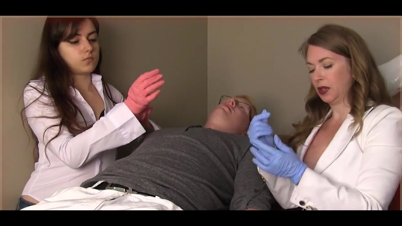 Female doctors humiliate small dick