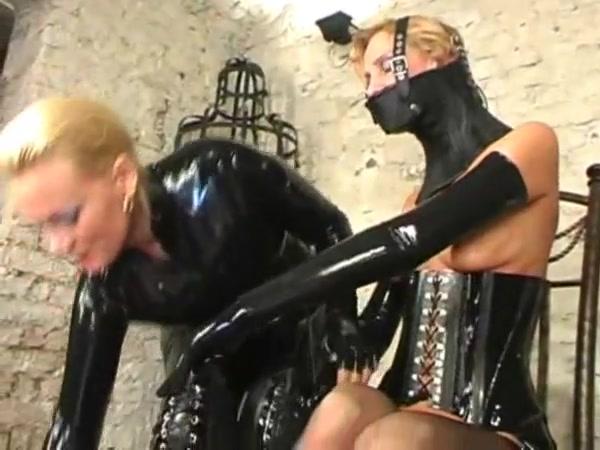 Latex slave girl tortured