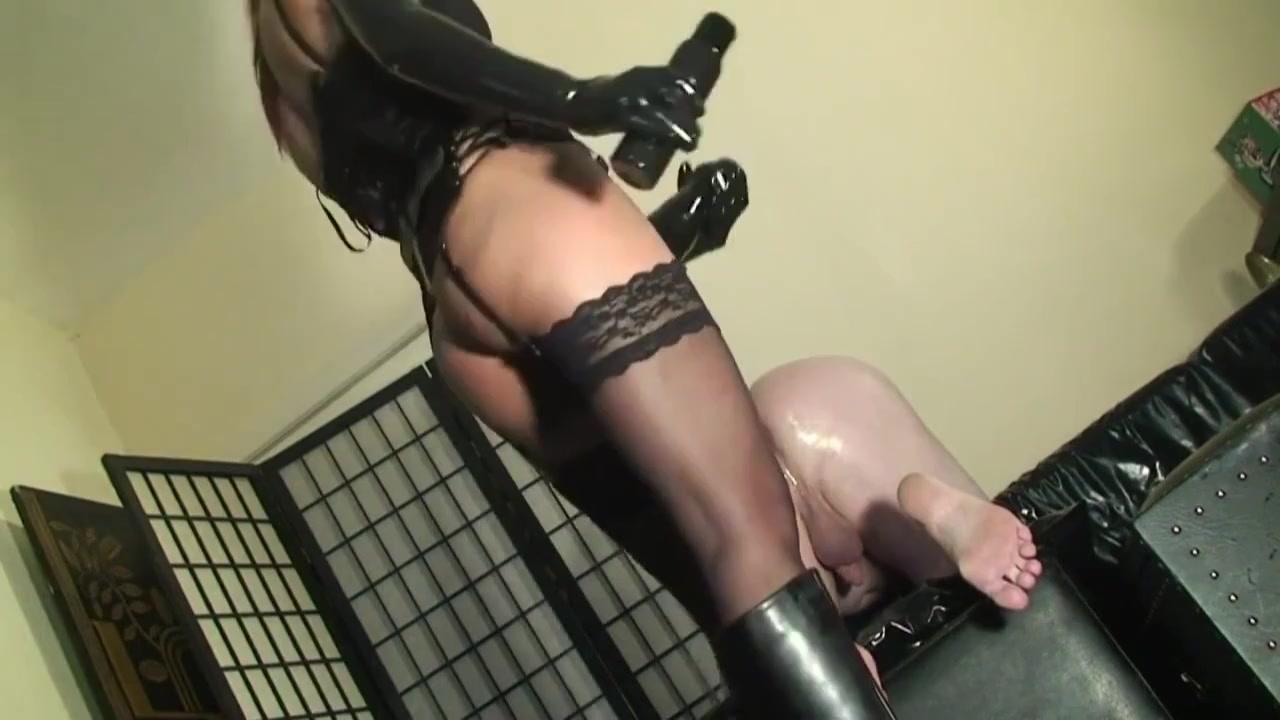 Simply doggy slavefucking with big black strapon