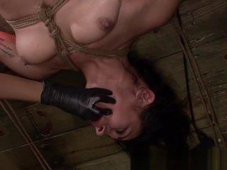 Strapon femdom lez roughly treat bounded sub