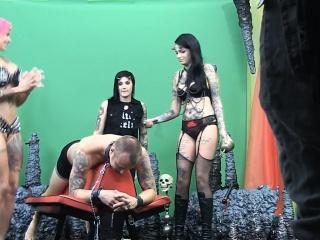 Gorgeous goth whores enjoy domination
