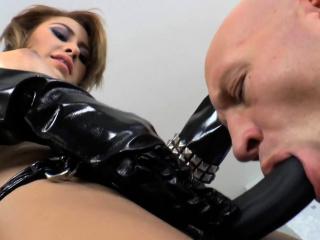 Hot femdom Marina Angel pegs