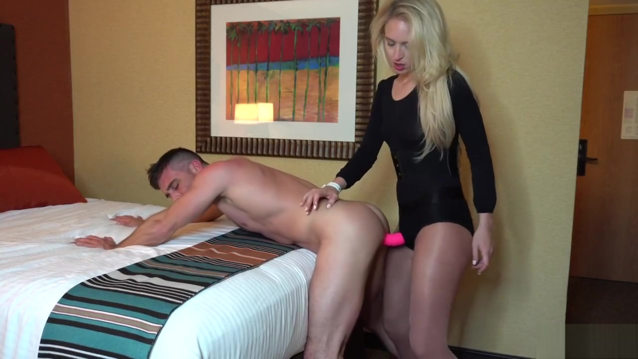 Ginger Banks Ballbusting and Strapon Anal with Lance Hart