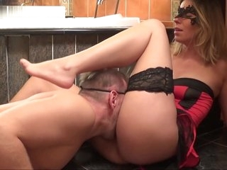 Dressed up as a Devil Kate Truu Squirting Two Times BDSM session 2