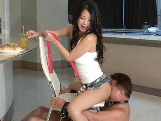 Japanese CFNM Satomi and Boot Fetish Slave