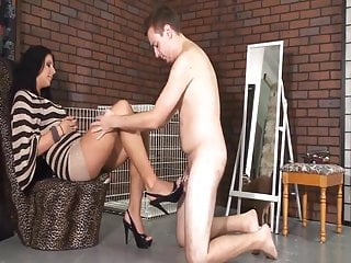 Humiliating chastity slave