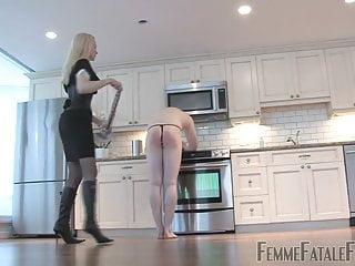 Mistress Eleise teaches a man obedience