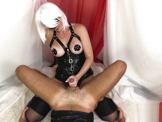 Mistress Brutal Fuck a Guy with Strapon - POV femdom pegging