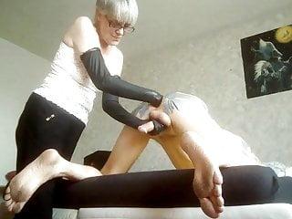 Dr. P. gives an assplay to hubbys butt
