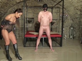 Ballbusting very hard and brutal. Destroy boots