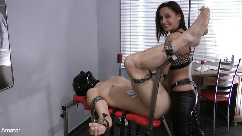 Lady Amesia & Slave in Lady Amesia - Strapon - KINK