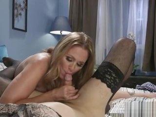 Busty blonde MILF enjoys hardcore bondage sex