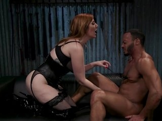 Big tits femdom pegging black man
