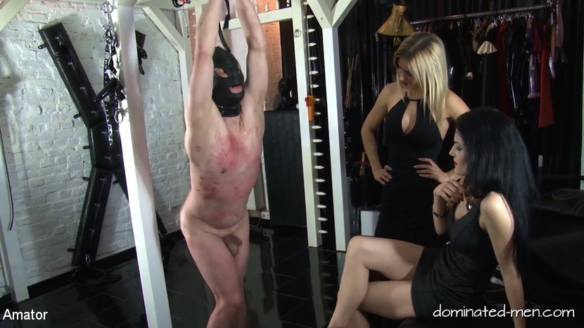 Lady Black Diamond & Patient c56xx & Lady Chanel in Double Ball Busting - Lady Black Diamond - KINK