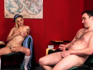 Kinky cfnm teen teasing