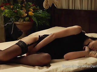 Big Ass Lesbian Maid Masturbates While Slave Gets Whipped