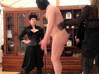 Fetish toying black babe makes him cum with femdom jerking