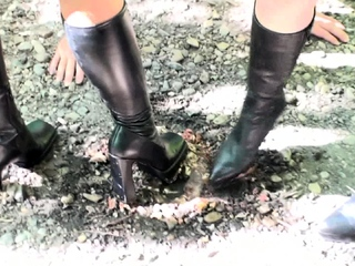 boot Domination with feeding outdoor