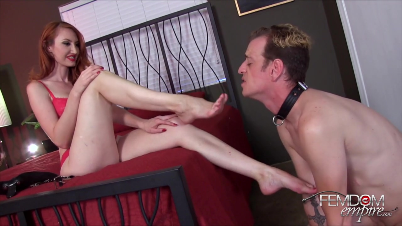 Kendra James Lesson In Foot Slavery