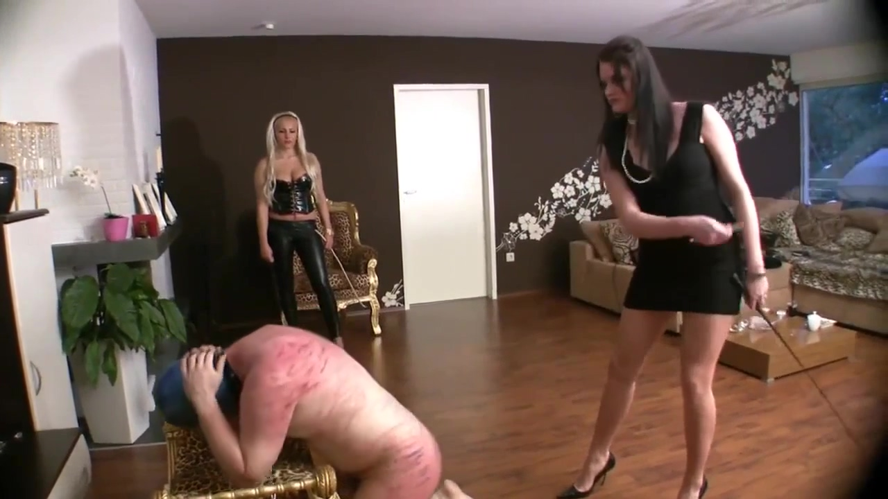 Cruel Caning By Two Woman