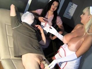 Sadistic Nurses Vacuum Sperm Donation Torture!