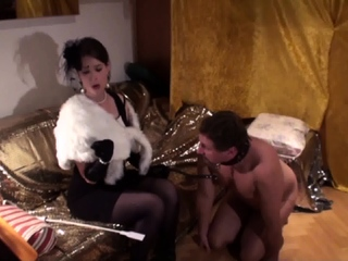 slave joschi have to kiss the Hand which slap him