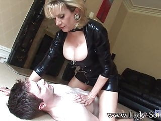 Lady Sonia Straddling Young Guy
