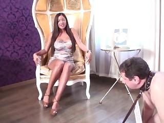 goddess perfecta + her lover humiliate slave joschi