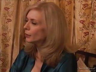 Nina Hartley, hot blonde milf seduces sexy Elexis Monroe