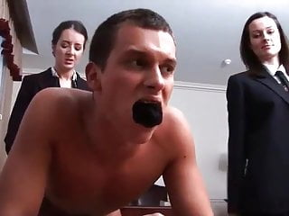 Love her face as she humiliates and strap-ons him ...