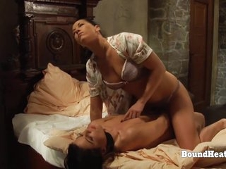 Young Lesbian Slave In Bondage Touched And Caressed By Madame