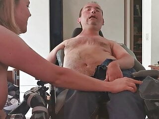 Boywonder shoots out a big load after a handjob by Angie