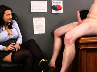 Cfnm boss with big tits