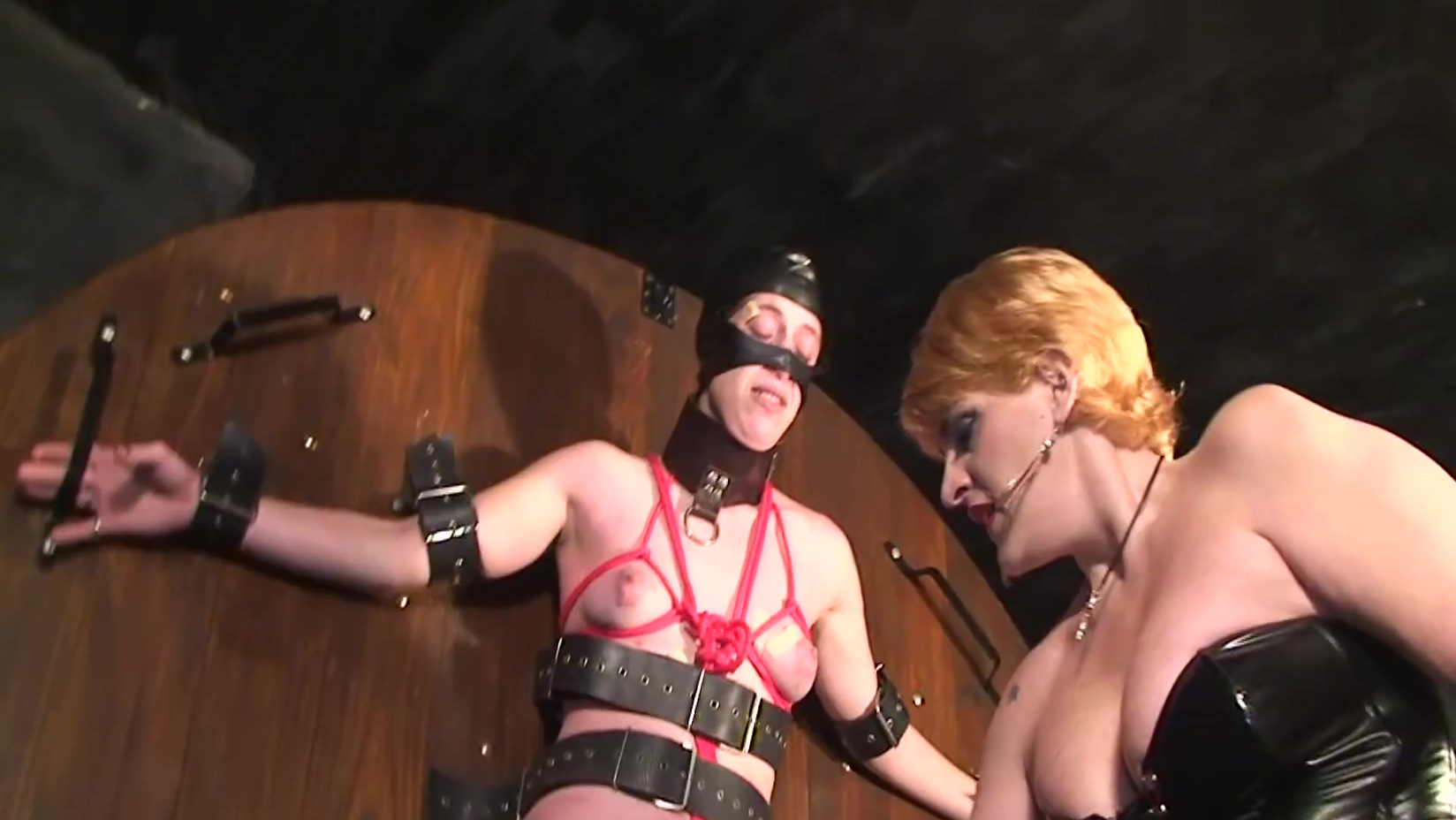 Mistress Karina & Mistress Marta Dom Slave Painslut Femdom Bondage Clothespin