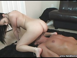 Teen facesitting with her pink pussy and asshole
