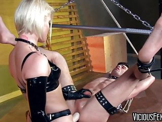 Ash Hollywood Fucks Lance Hart's Ass with Giant Strapon