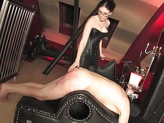 Caned by hot strict mistress