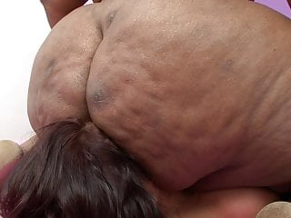 buried under giant butt